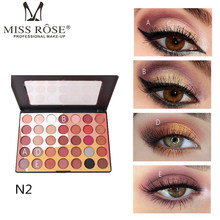 MISS ROSE 35 Color Eye Shadow Palette Shimmer Matte Colorful Eyeshadow Cosmetic Eyes Makeup Palette Women Beauty Eye Shadow Kits miss rose 55 colors eye shadow makeup palette long lasting shimmer matte eyeshadow eyes makeup palette mineral shadow cosmetics