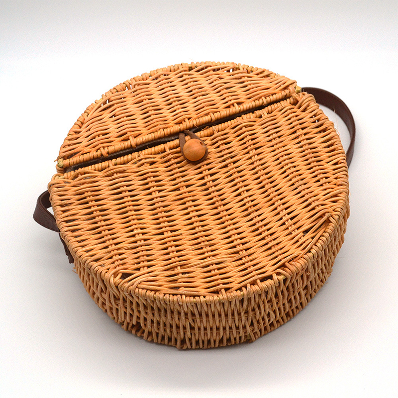 Cover Bamboo Female Rattan Straw Bag Woman Handbag Bolso Mimbre 45 5