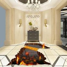 3D Wallpaper Volcanic Lava Floor