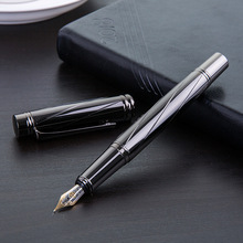 Лучшие Роскошные серебрение авторучка все стали высокое качество 0,5 мм наконечник канцелярские школьные канцелярские принадлежности подарок caneta tinteiro 03872