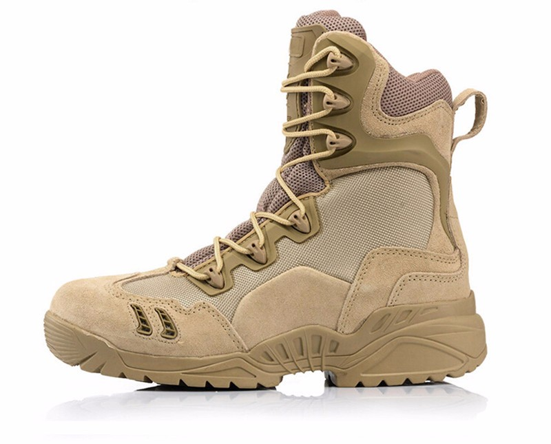 Outdoor Winter army Military Tactical Special Force Leather men s shoes breathable climbing hiking Boots Desert Combat Boats 2017 new military men s outdoor breathable hiking tactical boots men army combat trekking climbing shoes mountaineering boots
