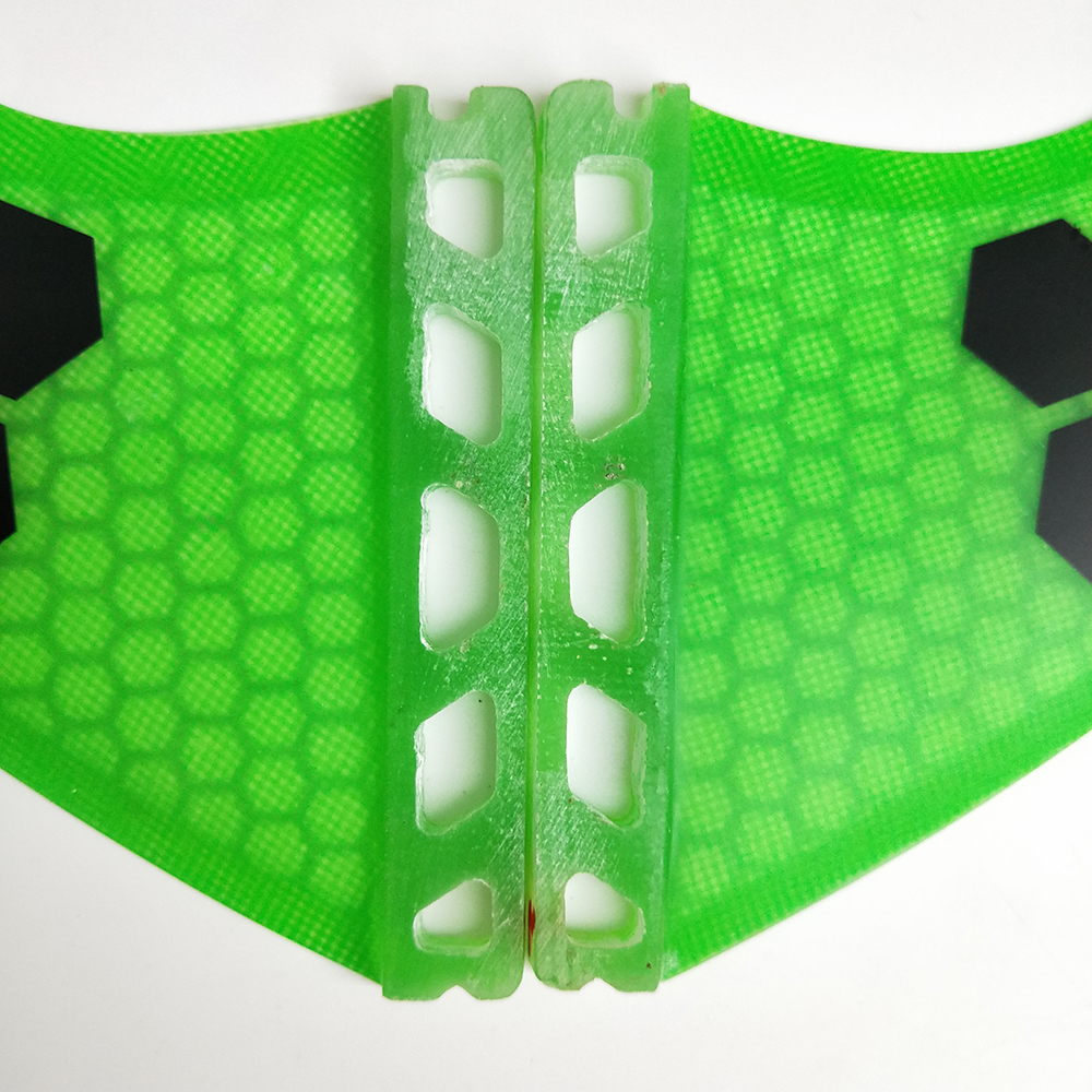 Future Quad Fins Orang / Blue Honeycomb Fin Surfboard Future Fins G5 - Су спорт түрлері - фото 5