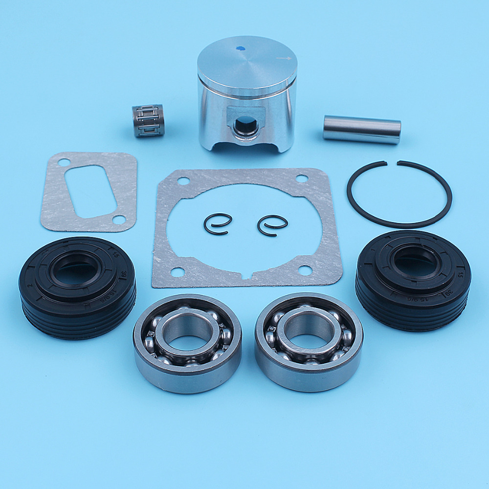 40mm Piston Crank Ball Bearing Oil Seal Kit For Husqvarna 340 345 Jonsered 2141 2145 Chainsaw Ring Needle Cage Spare Part