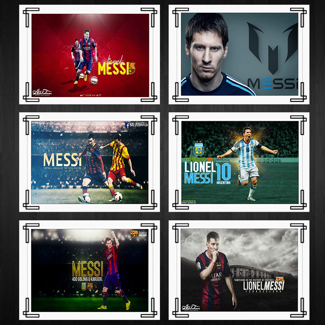 Football Player Lionel Messi Posters Home Room Decor High Quality Printing Wallpaper Modern Decoration