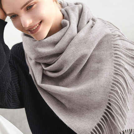 3cd74b1d5 ... Warm Winter 100% Pure Wool Scarf Women Solid Thick Cashmere Pashmina  Scarf Lady Maxi Shawl ...