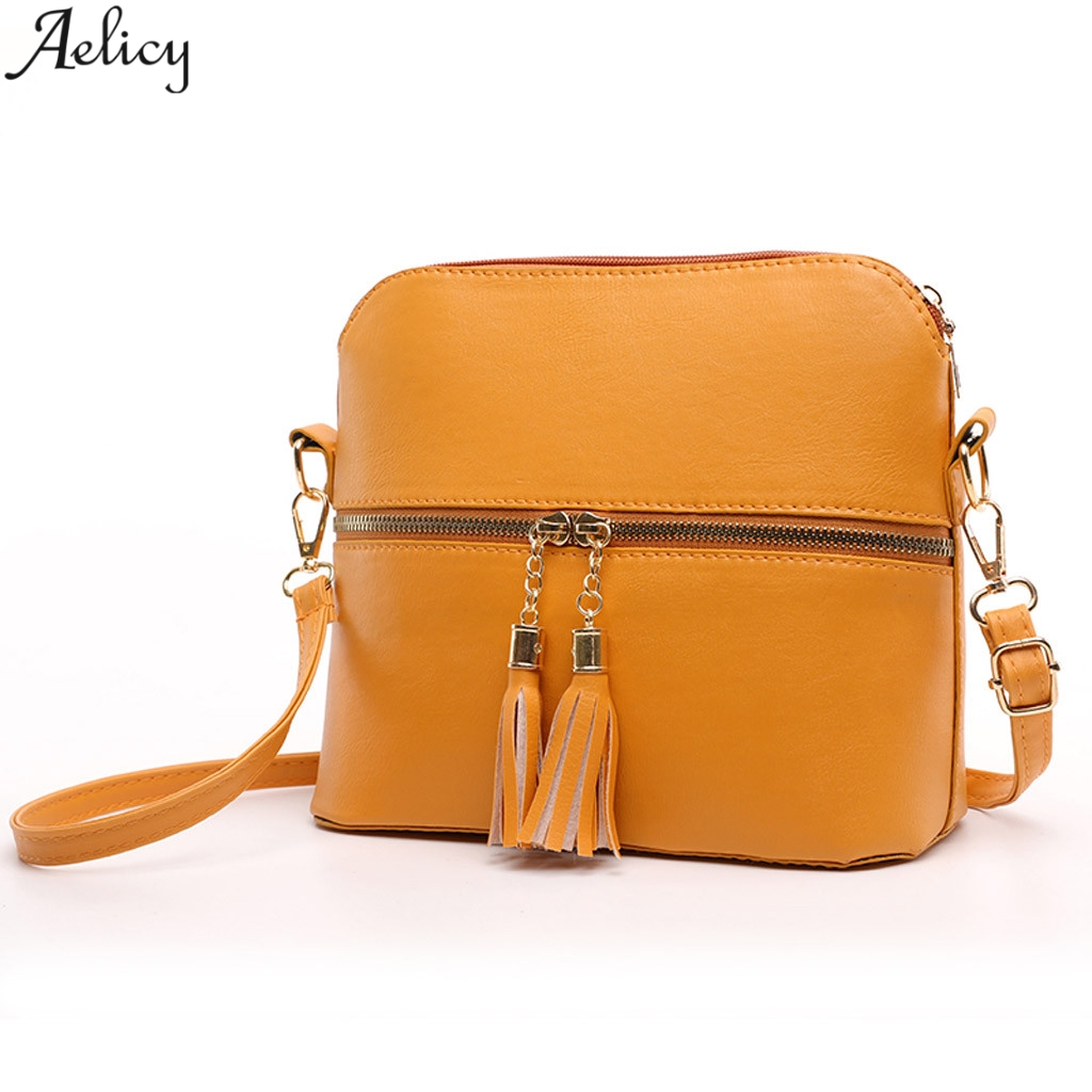 Aelicy Women's Fashion Solid Pu Leather Shell Messenger Bag Lady Fashion Versatile Simple Style Color Crossbody Bag Hot Sales