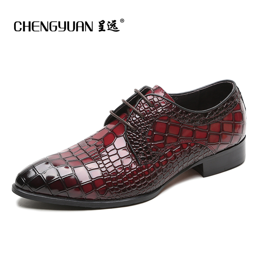 Black and red dress shoes for men