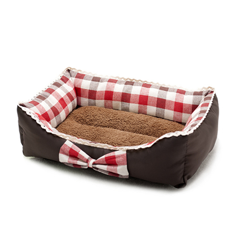 2 Colours Pet Nest Mat Dog Bed Cat Nest Fresh Art Bowknot Kennel Princess Bed Lace Dog Beds for Puppy