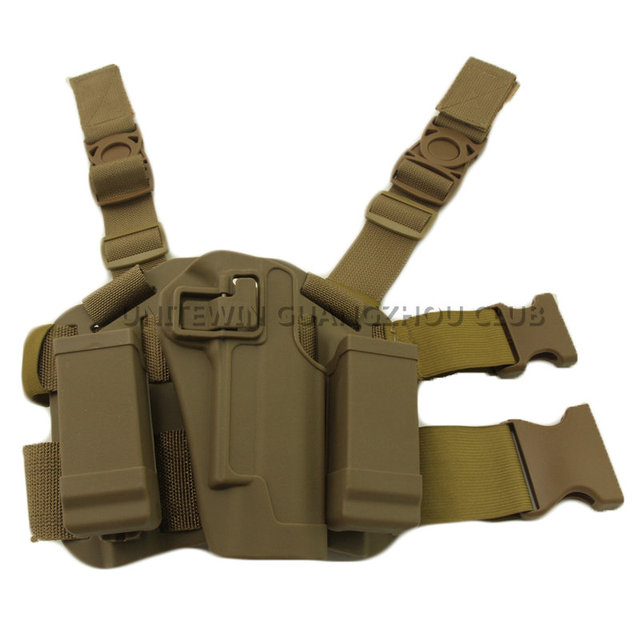 US $8 4 27% OFF|Airsoft Gun 1911 Holster Gear Accessory CQC Tactical Gun  Holster Military Army Combat Drop Thigh Leg Holster fit for Colt 1911-in