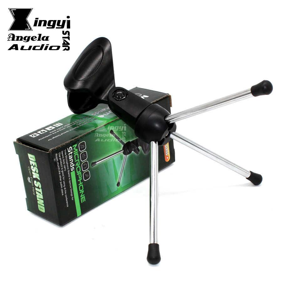 חצובת שולחן עבודה שולחן בעל קליפ מייק שולחן מהדק מיקרופון מיקרופון בום סטנד הר Suporte Microfone לshure BETA58A SM 58 57 PC