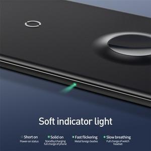 Image 5 - Baseus 3 ב 1 אלחוטי מטען עבור iPhone 12 Samsung מהיר טעינה אלחוטי Pad עבור אפל שעון 5 4 3 עבור Airpods Chargepad