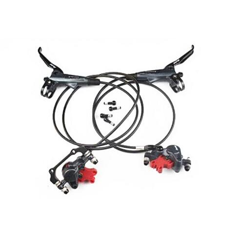 one pair ELIXIR 7 MTB Bicycle bike Hydraulic Disc Brake Front & Rear 750/1350mm Length 2 pair universal car 3d style disc brake caliper covers front rear