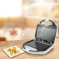 Electric Grill Waffle Maker Automatic temperature control Egg Frying Pan Sandwich Toaster Breakfast Machine Stainless Steel
