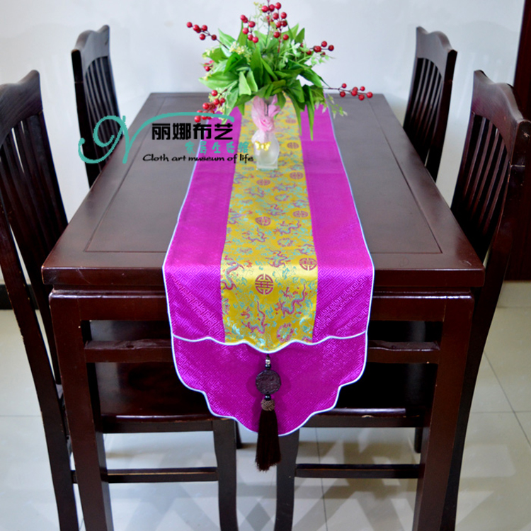 New classic Chinese Style 33 200cm Polyester bed table runner for home decoration