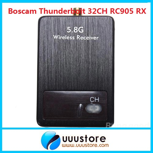 Boscam Thunderbolt 5.8G 32CH RC905 Wireless audio video AV Receiver Rx boscam dv01s fpv 8 channel 5 8g wireless receiver dvr wireless audio