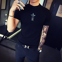 The young guy 2017 new summer male short sleeved t-shirt men tight T-shirt