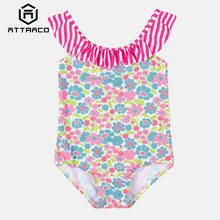 Attraco/Цельные купальные костюмы для маленьких девочек с цветочным