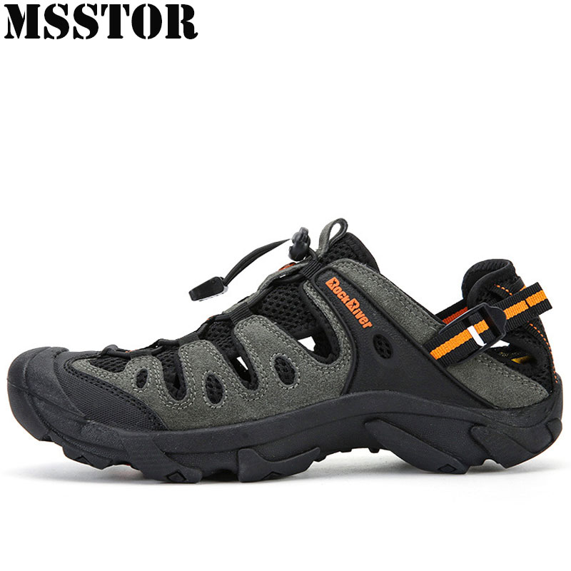 MSSTOR 2018 New Men Hiking Shoes Man Brand Upstream Wading Aqua Shoes Sport Shoes For Men Hunting Trekking Camping Mens Sneakers humtto outdoor hiking shoes for women breathable men s sneakers summer camping climbing lovers upstream sports man woman brand