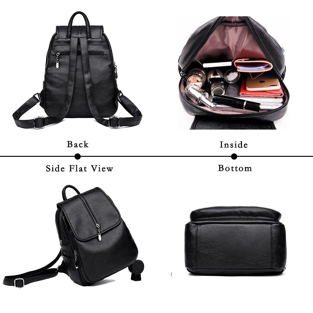 8e17bb03da Lanzhixin Women Backpack Female Leather Backpack Women Leather Backpacks  For Girls Vintage Backpacks School Shoulder Bags 1082-in Backpacks from  Luggage ...