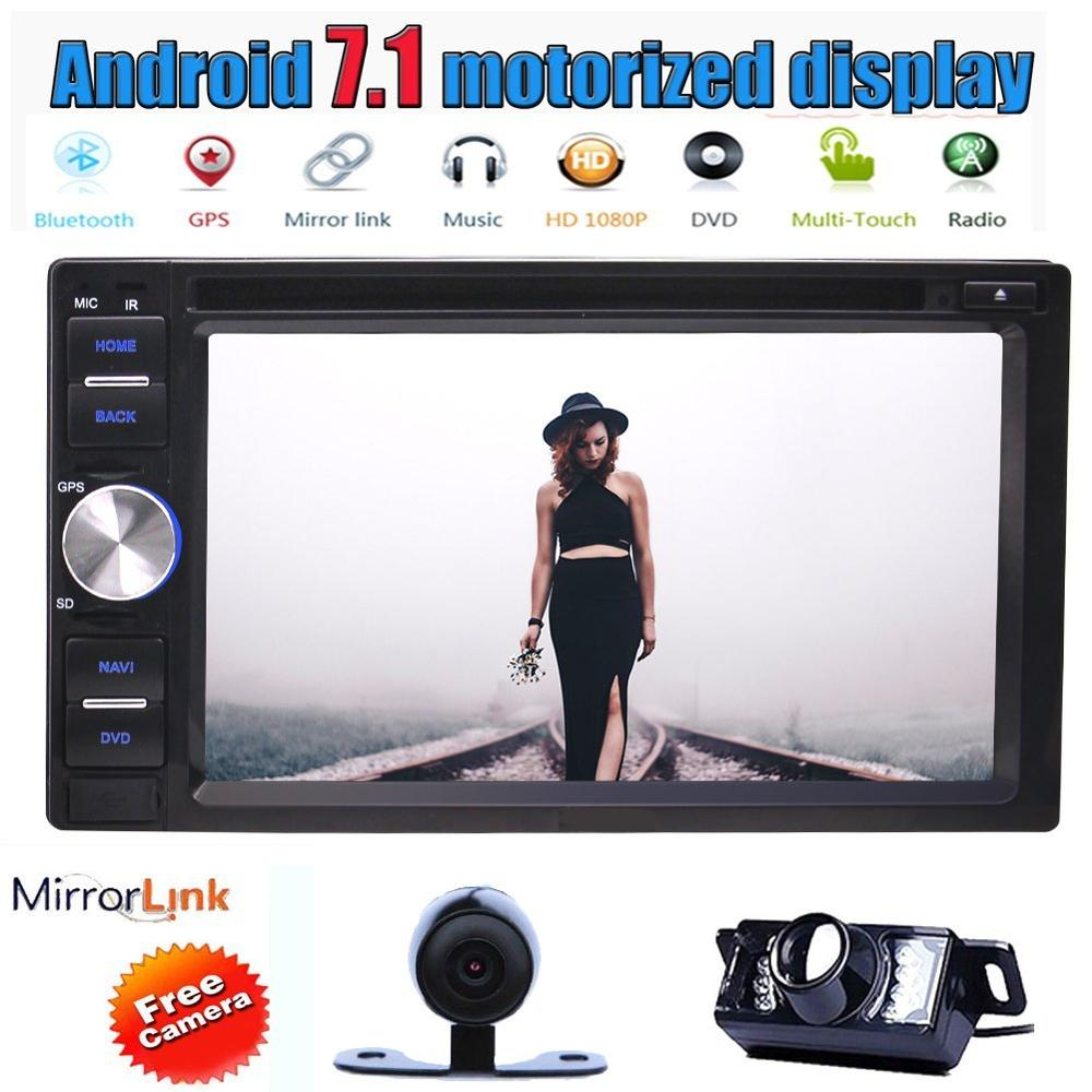 Android 7.1 Octa Core 6.2'' Car DVD Player in Dash GPS Navigation Radio Stereo Bluetooth Head Unit WIFI USBSD FM AM+Back Camera