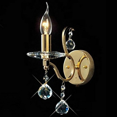 Simple Modern Led Wall Sconce Candle Crystal Wall Light Fixtures For Home Bedside Lamp Indoor Lighting Lampara Pared купить