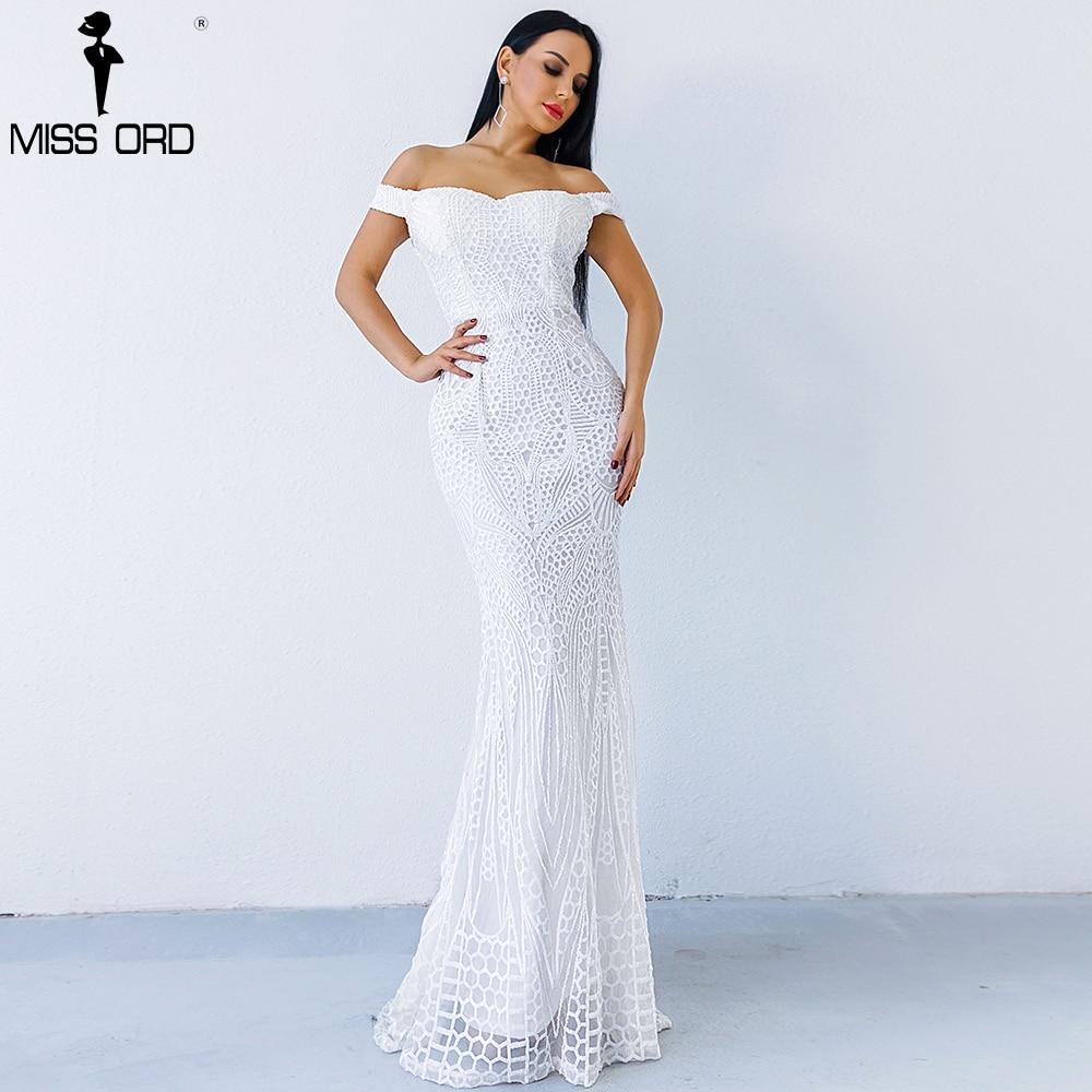 Missord 2019 Sexy soutien-gorge partie robe sequin maxi robe FT4912 - 6