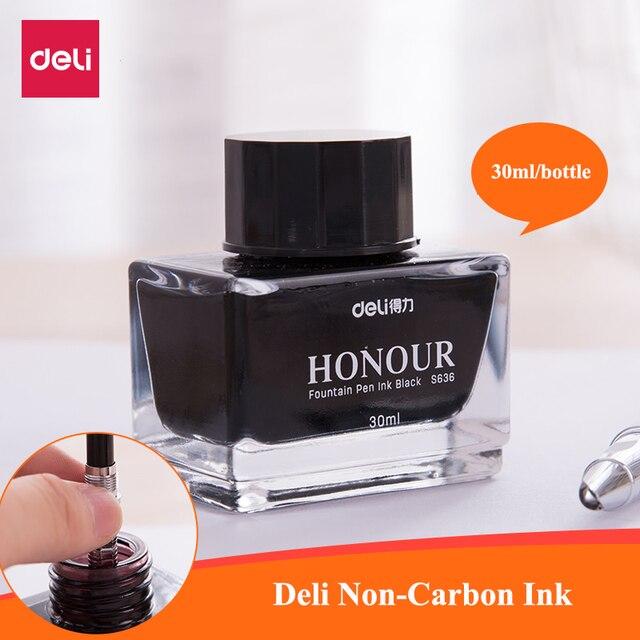 Deli s636 s635 Fountain pen ink 30ml 50ml bottle Black blue Pen ink blueblack ink wholesale 1
