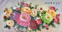 Hand Painted High Quality Oil Painting on Canvas Realist Peony Flower Canvas Painting Wall Art Picture Painting for Home Decor