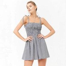 3c770ea9a3 Summer hot new Canadian fashion personality high waist lattice print  dignified temperament female dress(China