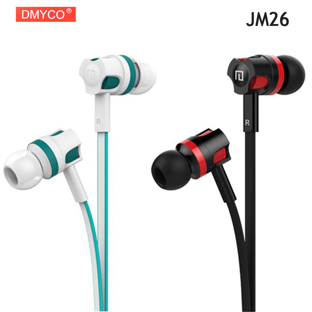 Original DMYCO JM26 Stereo Earphone Super Bass Headphones with microphone Gaming Headset for Mobile Phone White,Black Available ...