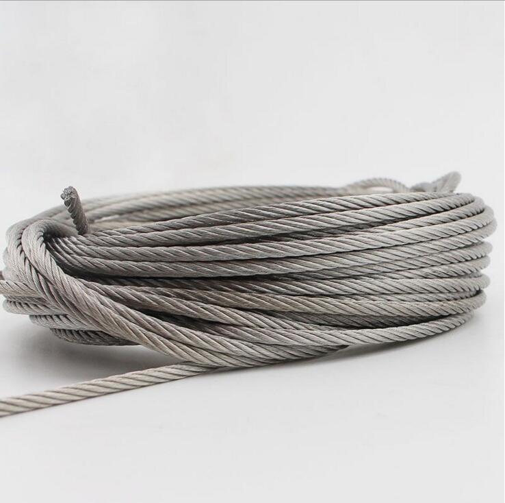 Ketten Diszipliniert 2,5mm Edelstahl Draht Seil 304 Weiche Hochwertige 7*19 Seil Hardware
