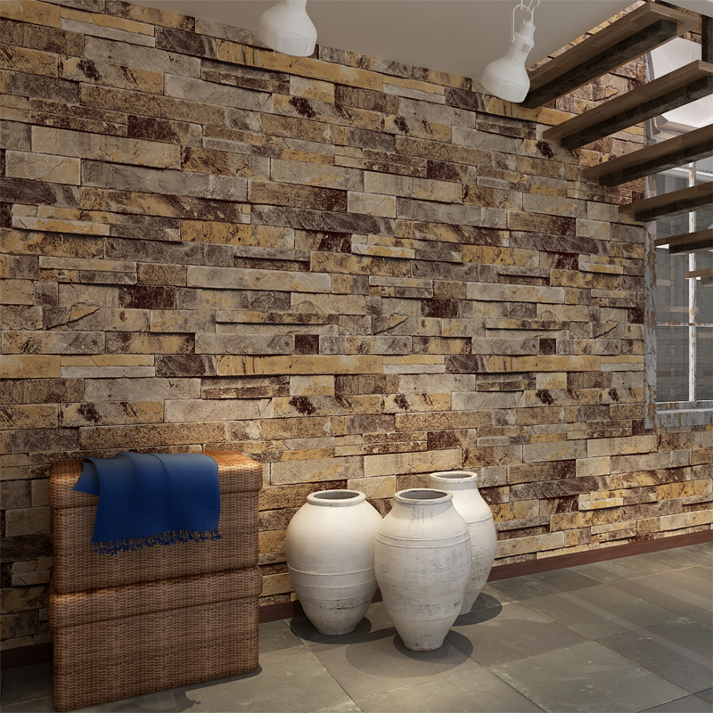 Hanmero 3d effect brick pattern wall paper embossed vinyl for Wallpaper pvc 3d