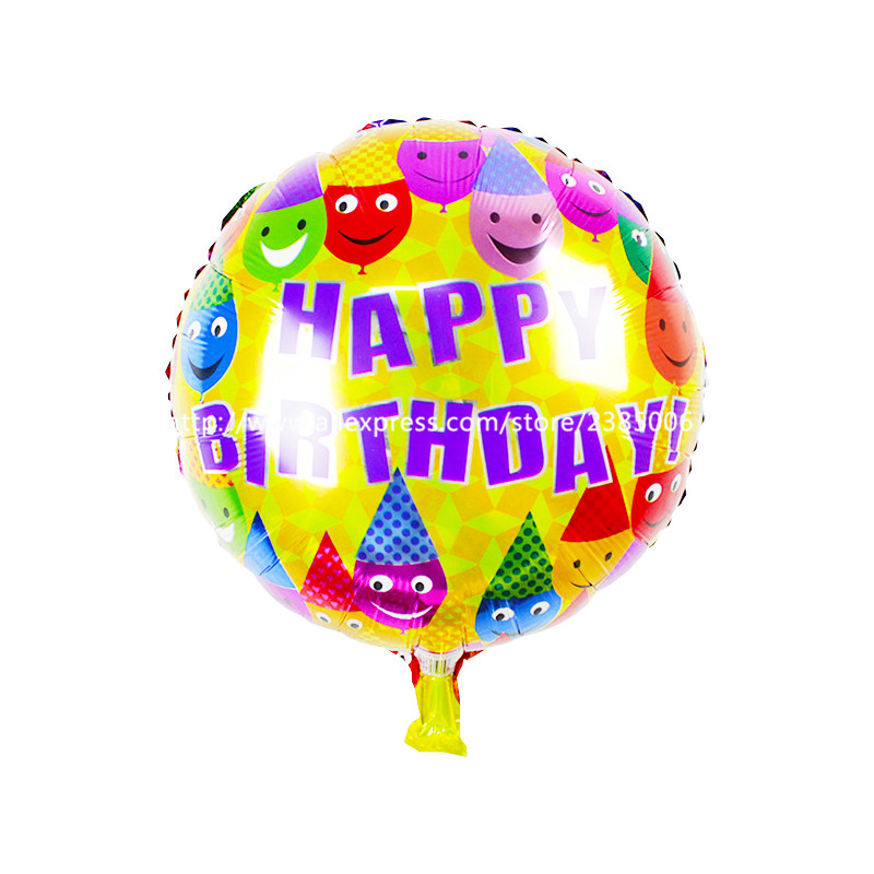 wholesale 10pcs/lot The new 18-inch round Happy Birthday balloons holiday party