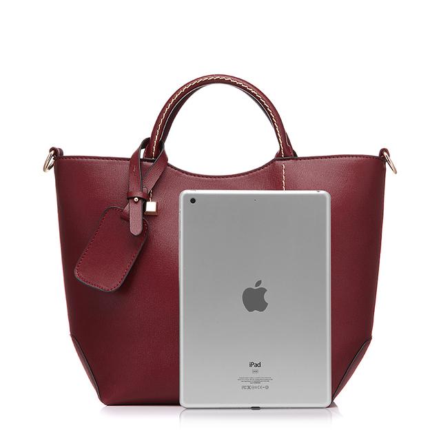 High Quality PU Leather Famous Designer Women's Top-Handle Handbag