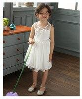 free shipping wholesale 2016 newest autumn girls party princess sleeveless flowers chiffon mesh dresses