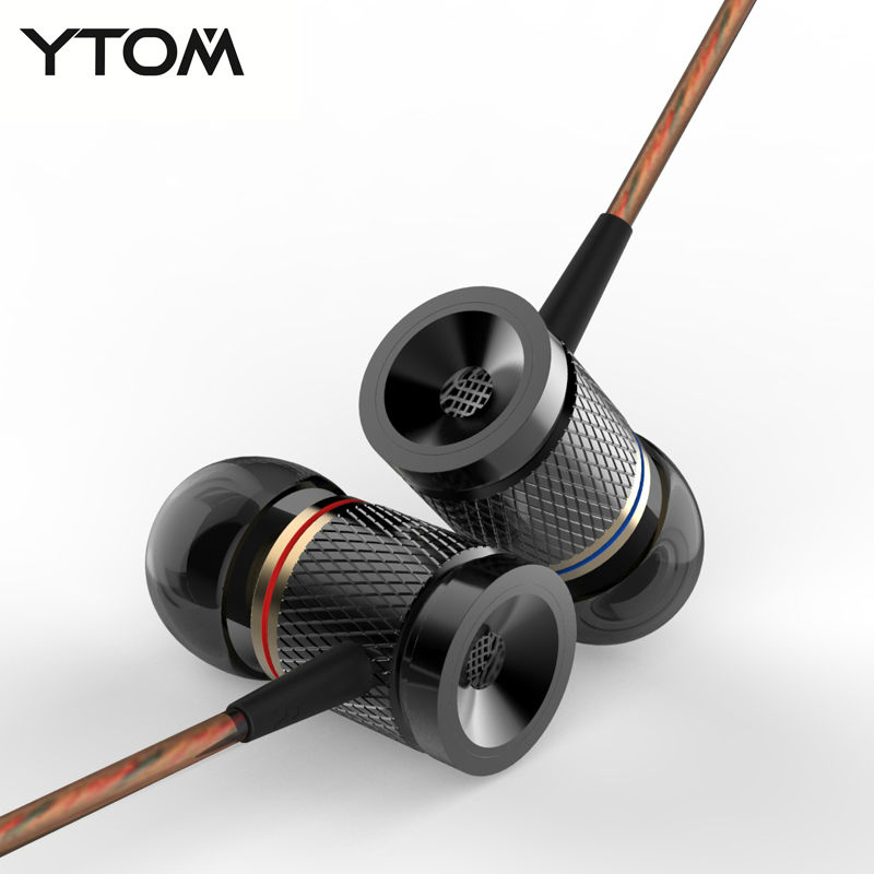 High Quality Metal Earphone Bass In Ear Music Earphone With DJ Earphones HIFI Stereo Earbuds Noise