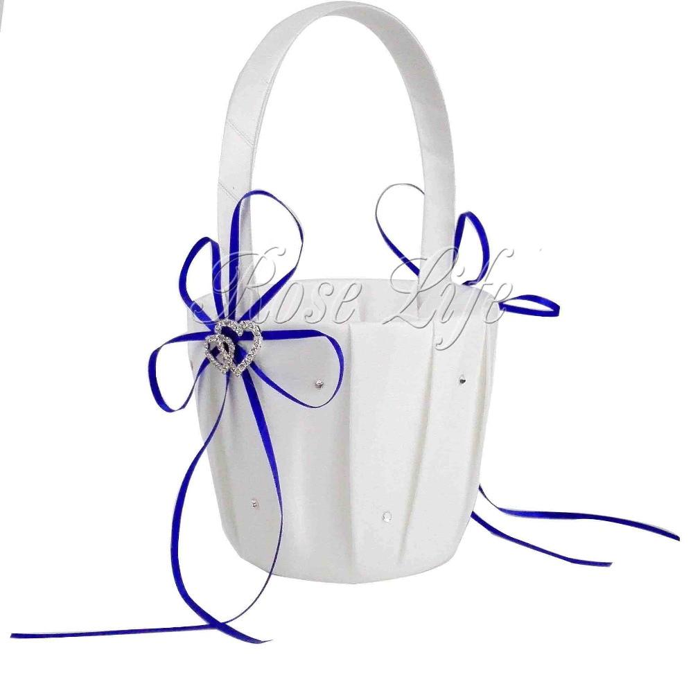 Online Buy Wholesale Royal Blue Flower Girl Basket From China Royal