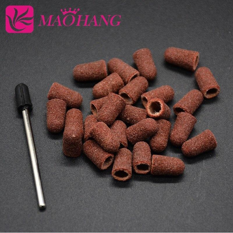 maohang ferramenta de arte de unha beleza quente 5 11mm 50 pecas faixas lixadoras e 1