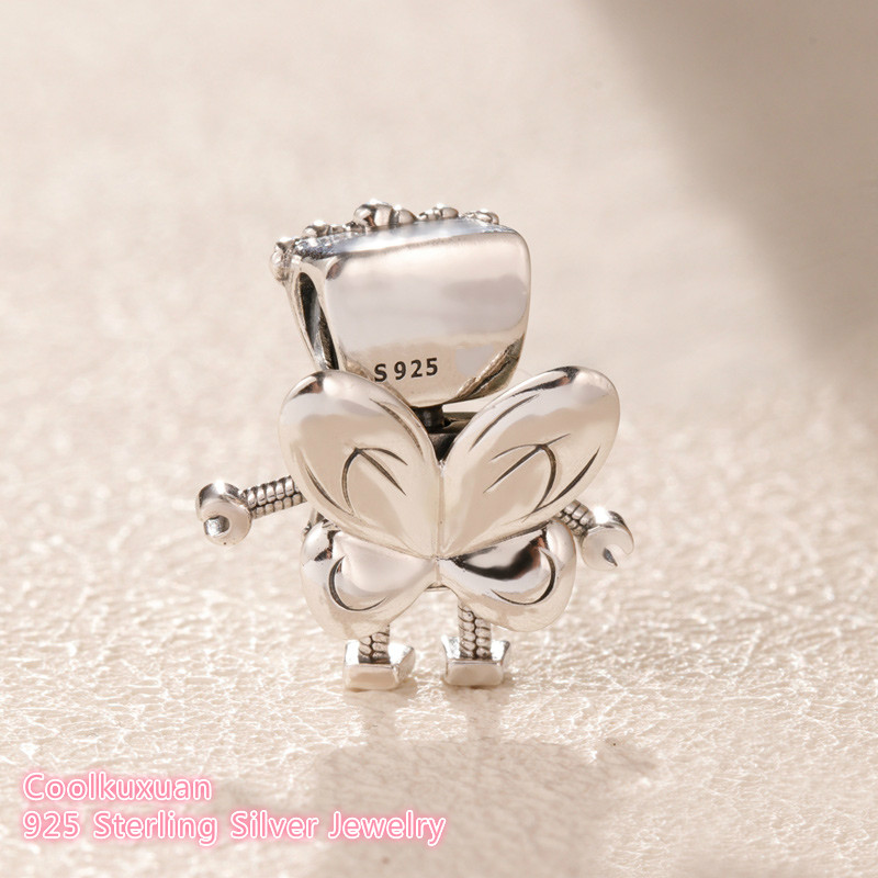 Image 2 - 2019 Spring Original 100% 925 Sterling Silver Limited Edition Floral Bella Bot Charm beads Fits Pandora bracelets Jewelry Making-in Beads from Jewelry & Accessories