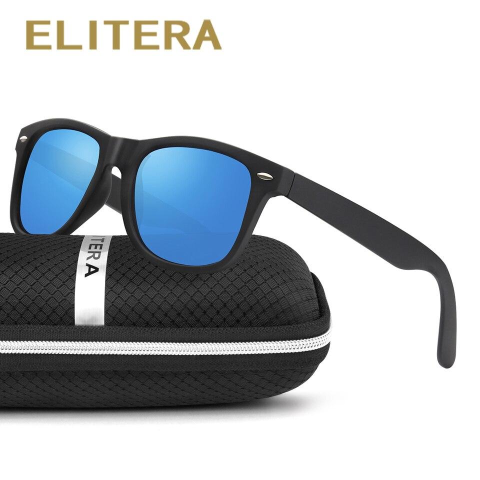 ELITERA Classic Zonnebril Heren Dames Merk Gepolariseerde Zonnebril Gepolariseerde lens Geek Oculos Gafas De Sol met etui