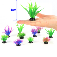 20 pcs sand table decoration plastic simulation water grass plant fake flower aquarium landscaping decorative accessories L211