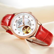 2017 Special Offer Carnival Watch Top Brand Luxury  Lady Automatic Mechanical Fashion Carnival Waterproof   Leather Strap Ladies