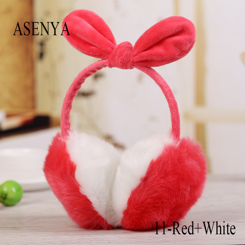 Elephant Performance China Minority Dressing Totem Winter Earmuffs Ear Warmers Faux Fur Foldable Plush Outdoor Gift