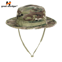 US Tactical Airsoft Sniper Camouflage Bucket Cap Military Boonie Hats Hunting Army Mens Sun Hat Accessories
