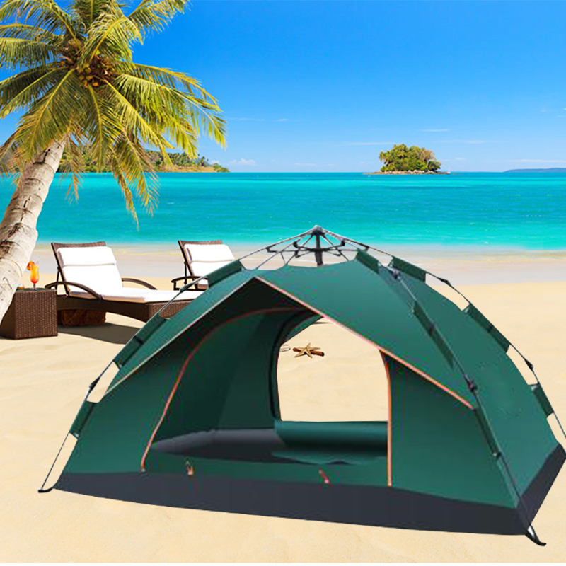 3-4 Person Outdoor Camping Hiking Tent Single Layer Waterproof Tent outdoor camping hiking automatic camping tent 4person double layer family tent sun shelter gazebo beach tent awning tourist tent