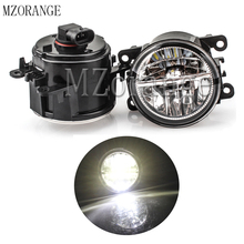 2PCS LED Front Fog Lamp Fog Light for Ford Focus MK2/3 Fusion Fiesta Tourneo Transit 2001-2015 Car Styling Fog Light Assembly цена в Москве и Питере