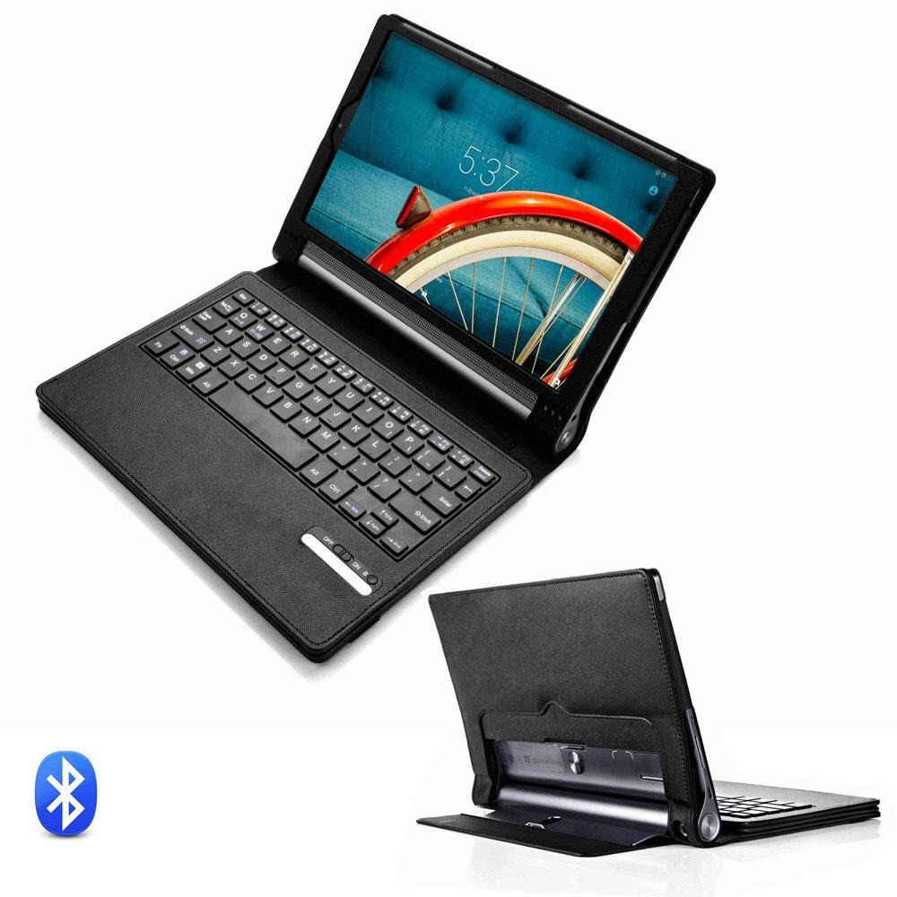 Pour Lenovo Yoga Tab 3 Pro 10 YT-X90 X90F/M/L Plus de 10 YT-X703F Clavier Bluetooth Détachable Avec étui En Cuir PU Housse de Support