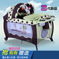 2016 Новый стиль 2 цвет мульти-размер - функция американский стиль детская кроватка портативный складной кроватки playbed кроватки ребенок играет кровать