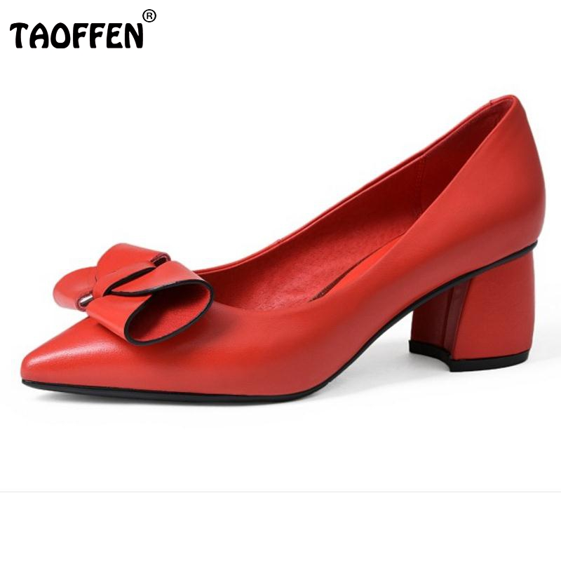 Women's Real Leather High Heels Shoes Women Bowtie Pointed Toe Heeled Pumps Office Ladies Sexy Party Wedding Shoessize 34-39 women s pumps high heeled shoes woman thin heels pointed toe silver and gold fashion sexy leather ol office shoes wedding shoes