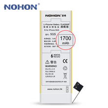 Top Quality NOHON Battery 1700mAh For Apple iPhone 5S 5GS Mobile Phone Battery Free Repair Machine